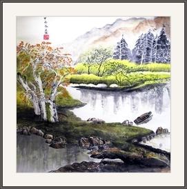 陳玉燕  湖光山色景秀麗