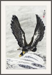 蘇滿海  海上雄鷹程萬里