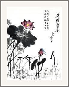 江偉明  荷塘清香蜻蜓訪