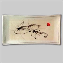河蝦 (瓷畫)
