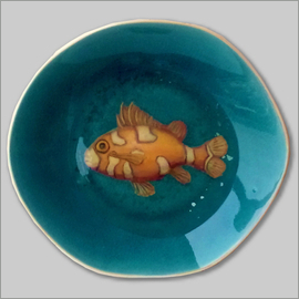 珊瑚魚 (瓷畫)