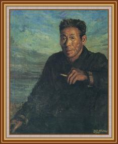 退休的海員 - 油畫