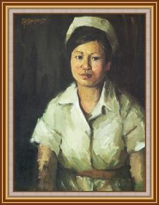 女護士 - 油畫