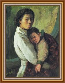 母愛 - 油畫