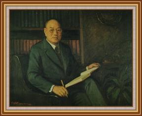 李卓敏博士(香港中文大學創辦人兼首任校長) - 油畫