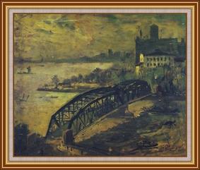 上海外白渡橋之晨 - 油畫