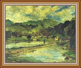 鹿徑初夏 - 油畫