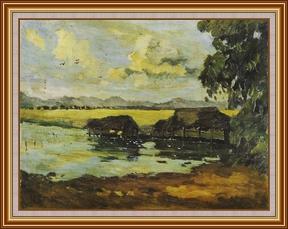 風景_米埔 - 油畫