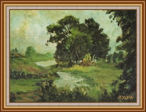 風氣_大樹 - 油畫