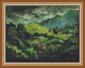 層巒疊翠 - 油畫