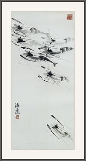 蝦 - 水墨