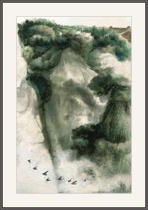 一行鷗鳥越懸崖