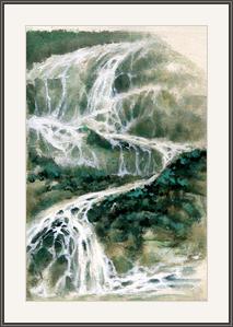 溪水急流滿青山