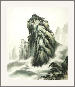 青松見證高山出雲海