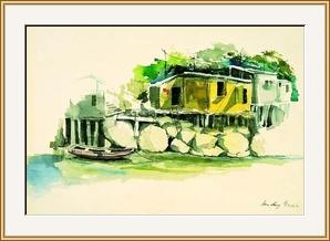 南丫島的黃屋寫生