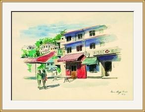南丫島的小酒吧寫生