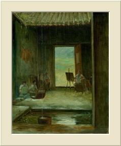 鹿頸之雨  (Oil Painting )