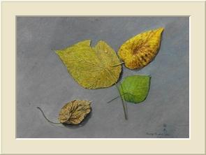 落葉   (Acrylic)