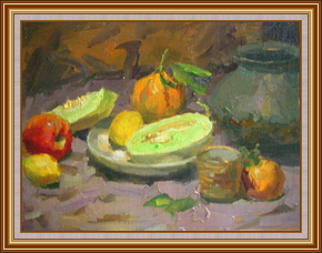 銅器和水果