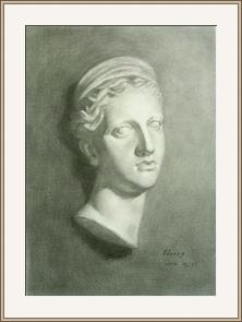羅馬婦人半面像