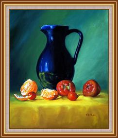 藍瓶子與水果