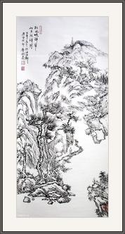 松風山月圖