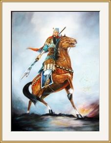 戰神「關羽」油畫