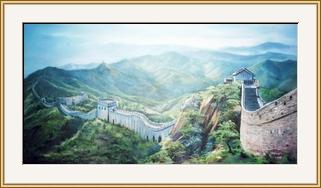 萬里長城 油畫