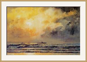 陽光。雲層。海浪