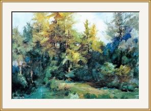 林帶深處 - 水彩