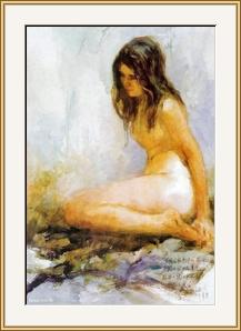 女人體 (摩寫習作) - 水彩