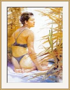 蘆葦沙沙響 - 水彩