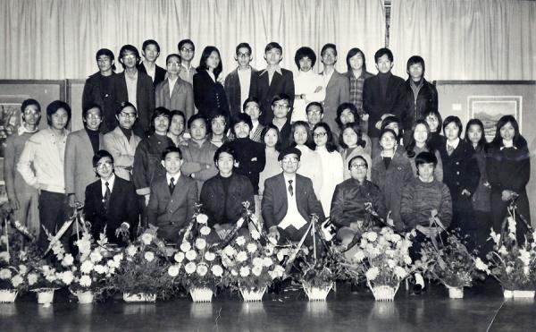 1973年攝於香港大會堂低座《香港美專畫展》
