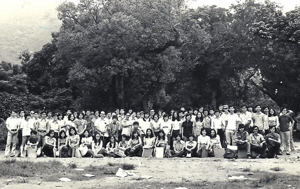 1973年美專師生旅行林村寫生合照