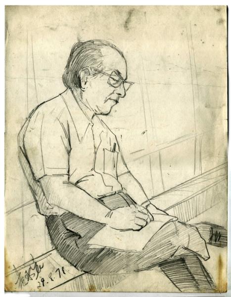 當年在校內鍛鍊速寫,老師是我愛畫的對象