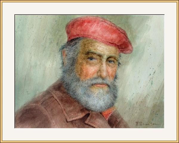 戴貝雷帽的畫家
