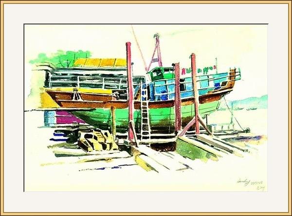長洲舊船塢寫生