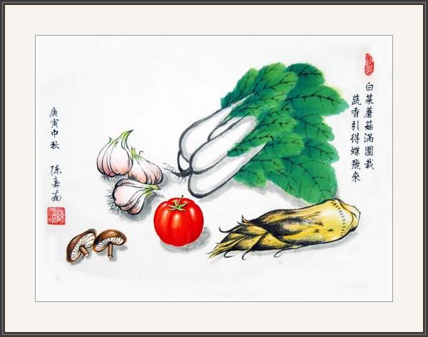白菜蘑菇滿園栽 蔬香引得蝶飛來