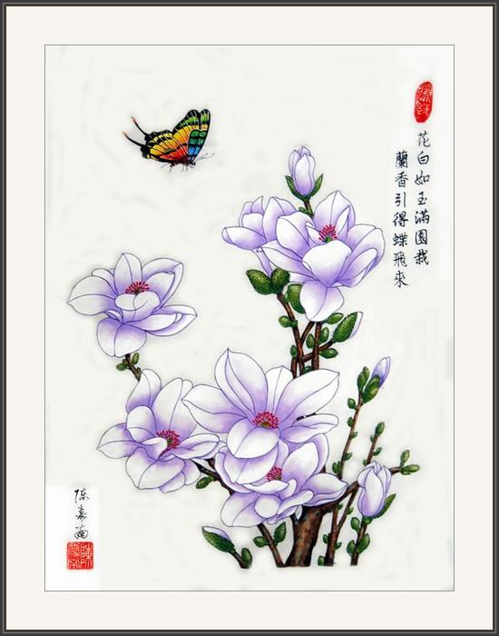 花白如玉滿園栽 蘭香引得蝶飛來