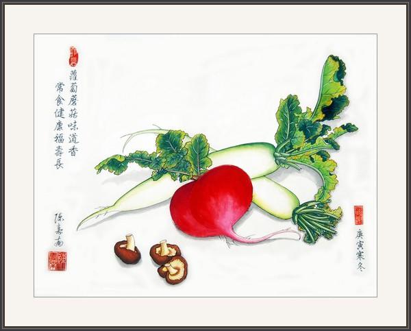 蘿蔔蘑菇味道香 常食健康福壽長