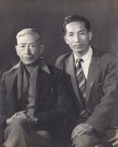 李鐵夫和陳海鷹合照